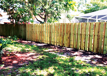 South Florida Wood Shadowbox Fence